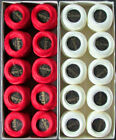 20x Needlepoint Embroidery THREAD Anchor Cotton Pearl 1210g Red White TX19