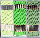 30x Needlepoint Embroidery THREAD Anchor Cotton Pearl 5 Greens FL59