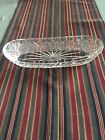 OBLONG RELISH CELERY DISH WATERFORD CRYSTAL PINEAPPLE FAN PATTERN MINT CONDITION