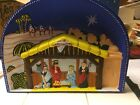 1940s GLOLITE CHRISTMAS NATIVITY SCENE LIGHTED ILLUMINATED PLASTIC in box