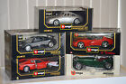 COLLECTION LOT of 5 BURAGO 1 18 SCALE DIECAST CAR MODELS