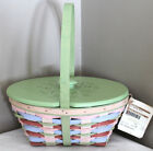 2012 NEW LONGABERGER EASTER BASKET, LID, TAGS, MULTI COLORS