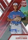2017 PANINI ELITE XTRA EDITION ALBERTO FABIAN RED DIE CUT INTERNATIONAL AUTO