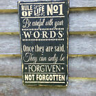 Hand made !!! Rule Of Life-Primitive Rustic Country Home Decor primitive sign