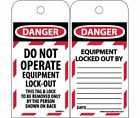 LOTAG11ST Polytag National Marker Tags, Danger, Do Not Operate Equipment Lock...