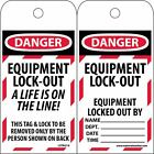 LOTAG18ST Polytag National Marker Danger Equipment Lock Out a Life is On Tag ...