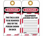 LOTAG1ST Polytag National Marker Danger This Tag Lock to Be Removed Onl (Pack...