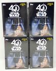 2017 TOPPS STAR WARS 40TH ANNIVERSARY 4 BOX BLASTER LOT w 1 MEDALLION PER BOX