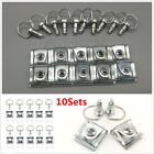 10Sets Motorcycle 1/4 Turn Quick Release 17mm D-RING Turn Race Fairing Fasteners