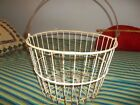 Vintage Wire Egg Farm Basket, coated with white vinyl