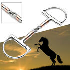 5in BT0401 Stainless Steel D Ring Horse Snaffle Bit Loose Ring Bit Horse Equipme