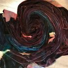 Hand Dyed velvet Fabric rayon and silk quarter yard  18 x 22 inches
