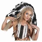 Native American Indian Feather Headdress Black Brown Festival Costume Accessory