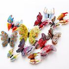 12 Pcs 3D Butterfly Wall Stickers PVC Children Room Decal Home Decoration Decor