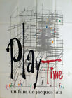 PLAYTIME JACQUES TATI ARCHITECTURE ORIGINAL LARGE FRENCH MOVIE POSTER