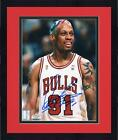 Framed Dennis Rodman Chicago Bulls Autographed 8'' x 10'' Smiling Photograph