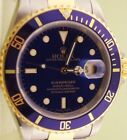 ROLEX SUBMARINER 16613 18K YELLOW GOLD & STAINLESS STEEL TWO TONE