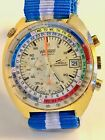 Vintage WAKMANN Regate Chronograph Lemania 1341 men's Yachting Watch *video*