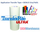 TransferRite 12x300FT Application Transfer Tape + 24x1YD Vinyl Assorted Colors