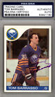 Tom Barrasso Autographed Signed 1985-86 Topps Card Buffalo Sabres PSA #83921160