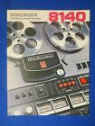 Dokorder 8140 Reel To Reel Brochure Catalog Original The Real Thing