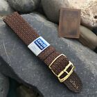 20mm Old-Stock Perlon Mesh 1960s Vintage Watch Band Divers Strap Brown