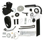 Bike Motor 2 Stroke 50cc Petrol Gas Motorized Bicycle Engine Kit DIY Silve