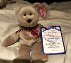 NY YANKEES TY BEANIE BABIES 1999 SIGNATURE BEAR WITH CARD AND CASE