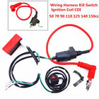 Universal Dirt Bike Wiring Harness Kill Switch Ignition Coil CDI Set 50cc 150cc