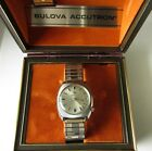 1976 Bulova Accutron Men's Wristwatch 2181G Stainless steel case with boxes RUNS