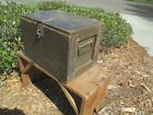 VTG ANTIQUE WOOD STRONG BOX CHEST MILITARY ?  WW1  WW11 AMMO CRATE