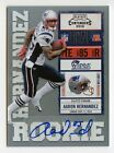 AARON HERNANDEZ - 2010 PLAYOFF CONTENDERS ROOKIE TICKET RC AUTO CARD# 101