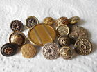 ANTIQUE/VINTAGE 15 METAL BUTTONS ALL DIFFERENT  #152