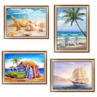US 4030cm Beach View 5D Diamond Painting DIY Embroidery Cross Stitch Home Decor