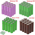 Lot Samsung LG Sony 18650 High Drain Li ion Battery Vape Rechargeable Batteries