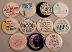 11 pc 1 I LOVE YOU TO THE MOON AND BACK flatback cabochon HAIR BOW CENTERS
