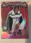 Willie Mays Barry Bonds AUTO RARE 2001 Donruss Elite Passing The Torch Numbered