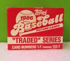 1986 Topps Traded Complete FACTORY SEALED Set Bonds Canseco Bo Jackson Rookie