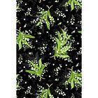 GREENERY Tossed Lily of the Valley Black Quilt Fabric Maywood by 1 2 yard 8291 J