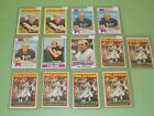 1972-1975 Topps Terry Bradshaw Lot of 13 Cards w 1972, 1973, 1974, Nice! A23