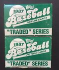 1987 Topps Baseball Traded Series Factory Set Greg Maddux RC Mint 2 Sets Lot
