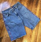 Vintage Tommy Hilfiger Mens Shorts denim size 34 spell out Tommy jeans 90s rare