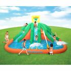 Kahuna Triple Monster Big Inflatable Backyard Kiddie Slide Water Park w Slide