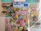Baby Girl First Birthday Scrapbooking Stickers Lot Jolees Paper House Cake Card