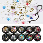Colorful Round Nail Art Rhinestone Faux Pearl Decorations Manicure Beauty Tool E
