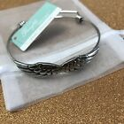 Protection Heavenly Angel Wings Silver tone Expandable Bracelet
