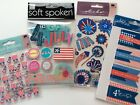 Fourth Of July Scrapbooking Stickers Lot Jolees Pebbles Soft Spoken Fireworks