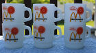 6 FIRE-KING MCDONALD'S GOOD MORNING MILK GLASS STACKING COFFEE MUGS CUPS