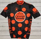 ORANGE CONVERSE TEAM BEEN BAG rare retro mtb cycling MENS BLACK JERSEY size S