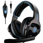 Stereo Gaming Headsets Headphones with Microphone for Plastation4 Cystal Clear